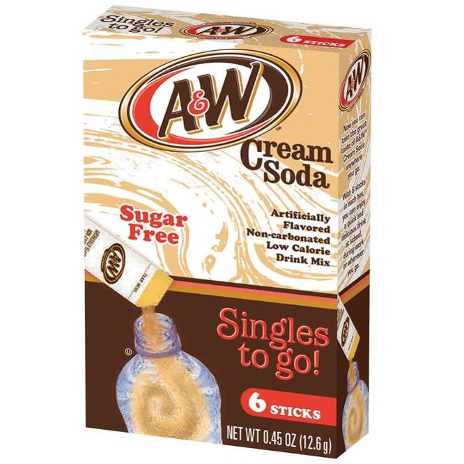 A&W Cream Soda Singles-to-Go (12.6g) - A Taste of the States