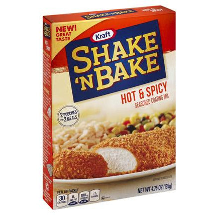 Shake 'N Bake Hot & Spicy 4.75oz (135g) - A Taste of the States