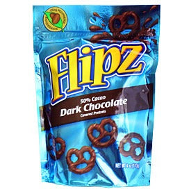 Flipz (Dark Chocolate Covered Pretzels) 4oz - A Taste of the States
