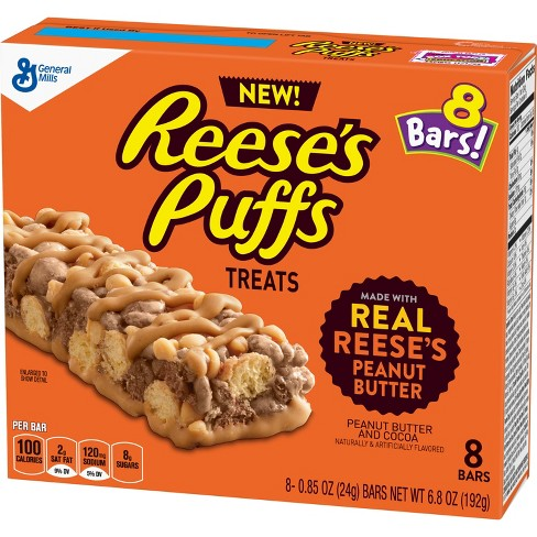 Reese's Puffs Treats Cereal Bars (8ct.) - A Taste of the States
