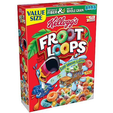 Kellogg's Froot Loops Cereal (14.7oz) - A Taste of the States
