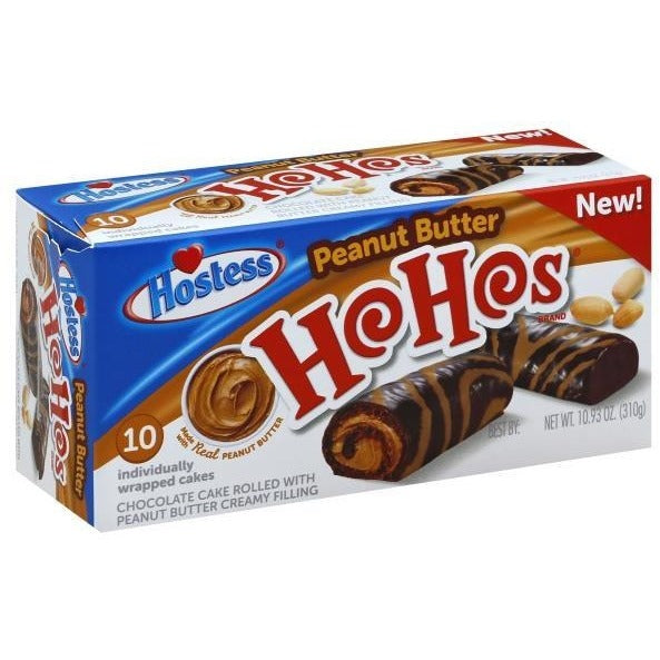 Hostess Peanut Butter Ho Ho's (10) - A Taste of the States