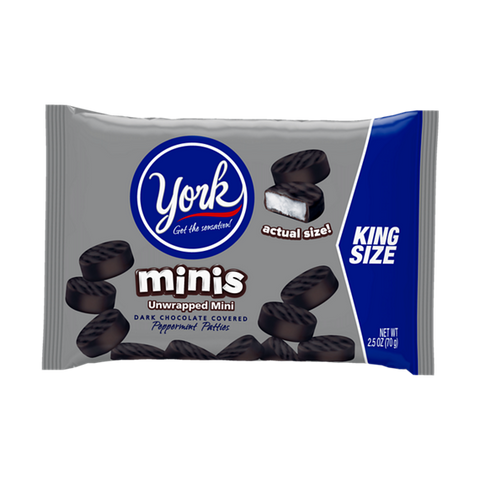 York Miniature Peppermint Patties King Size 2.5oz (70g)