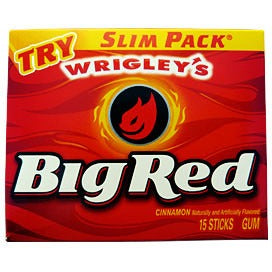 Big Red Cinnamon Chewing Gum (15 sticks) - A Taste of the States