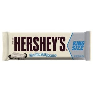 Hershey's Cookies 'n' Creme Bar - King Size (73g) - A Taste of the States