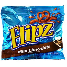 Flipz (Milk Chocolate Covered Pretzels) 2oz - A Taste of the States