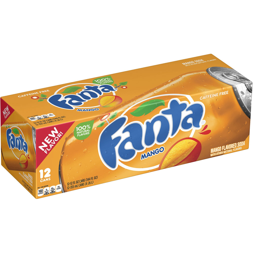 Fanta Mango Fridge Pack (12x355ml cans) - A Taste of the States