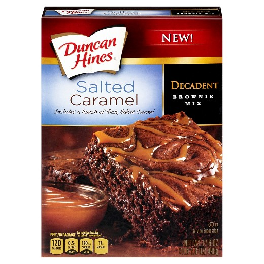 Duncan Hines Salted Caramel Decadent Brownie Mix (16.5oz) - A Taste of the States