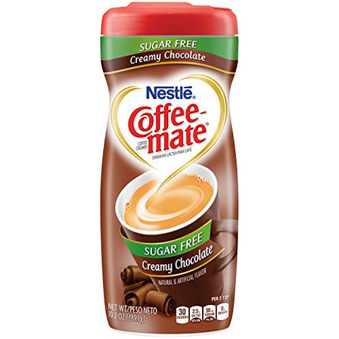 Nestle Coffee-Mate Sugar Free Creamy Chocolate (10.2oz tub) - A Taste of the States