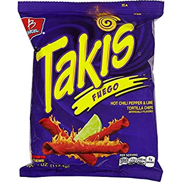 Takis Fuego (Hot Chilli & Lime Corn Snacks) 60g - A Taste of the States