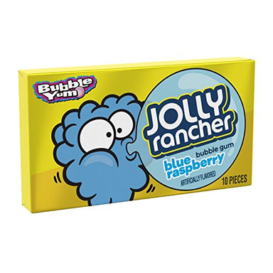 Bubble Yum: Jolly Rancher Blue Raspberry Gum (10pcs) - A Taste of the States