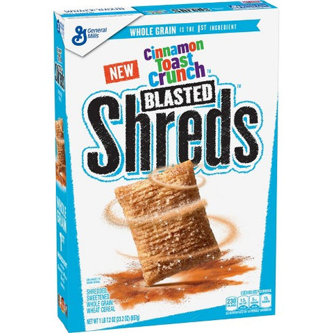 Cinnamon Toast Crunch Blasted Shreds Cereal XL BOX (23.2oz) 657g - A Taste of the States