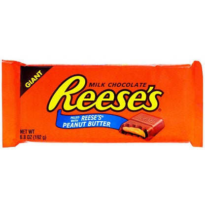 Giant Reese's Milk Chocolate Peanut Butter Bar (192g) - A Taste of the States