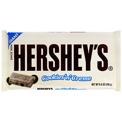 Giant Hershey's Cookies 'n' Creme Bar (184g) - A Taste of the States