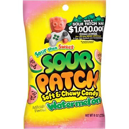 Sour Patch Watermelon Peg Bag (5oz) - A Taste of the States