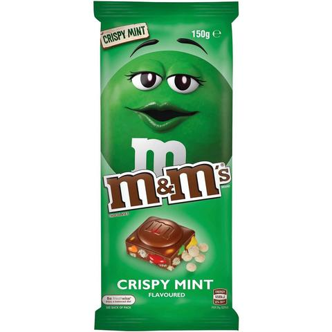 M&M's Chocolate Bar: Mint & Crispy Pieces (110g)