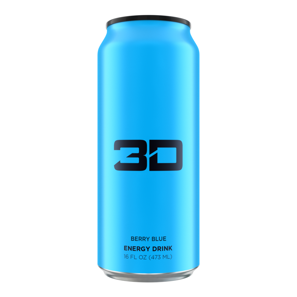 3D Energy Drink: Berry Blue (16oz)