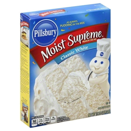 Pillsbury Moist Supreme White Cake Mix (15.25oz) - A Taste of the States