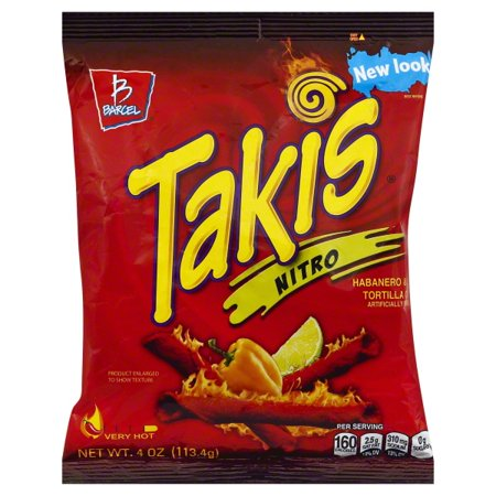 Takis Nitro (Habanero & Lime Tortilla Chips) 4oz - A Taste of the States