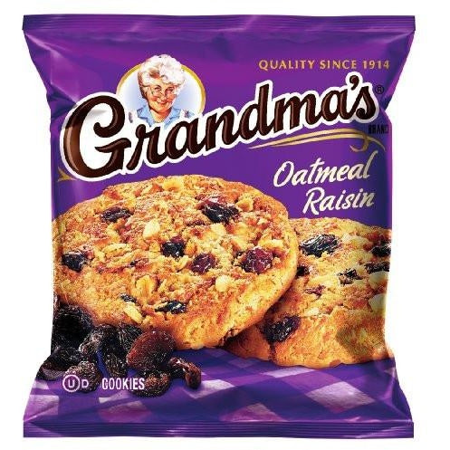 Frito-Lay Grandma's Cookies Oatmeal & Raisin 2.5oz - A Taste of the States