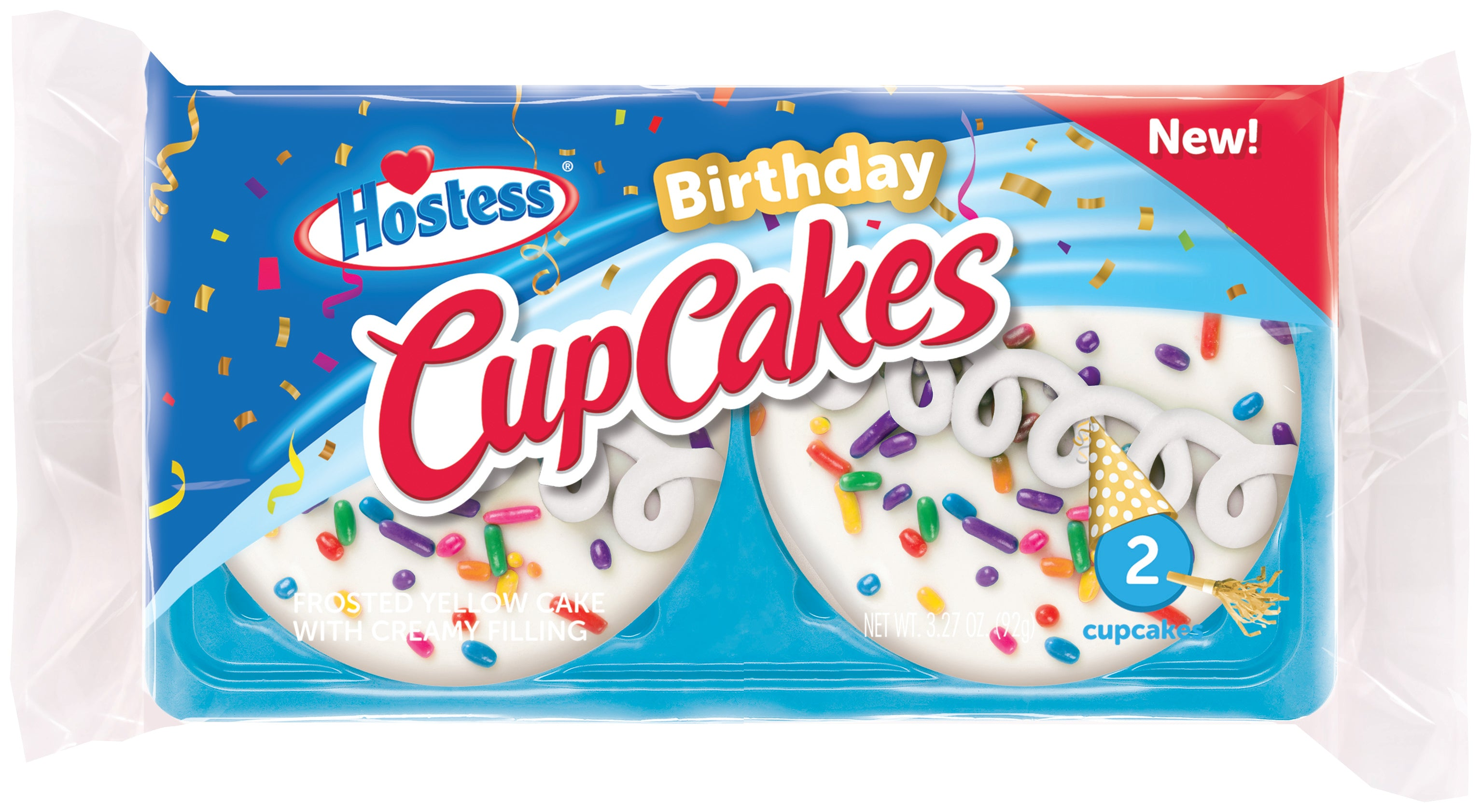 Hostess Birthday Cupcakes: Twin Pack (2.73oz) - A Taste of the States