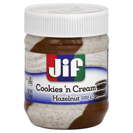 JIF Cookies 'n Cream Hazelnut Spread (13oz) [BB 03/20] - A Taste of the States