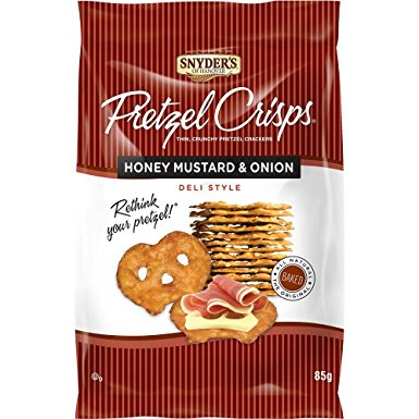 Snyder's Pretzel Crisps - Honey Mustard & Onion (85g) - A Taste of the States