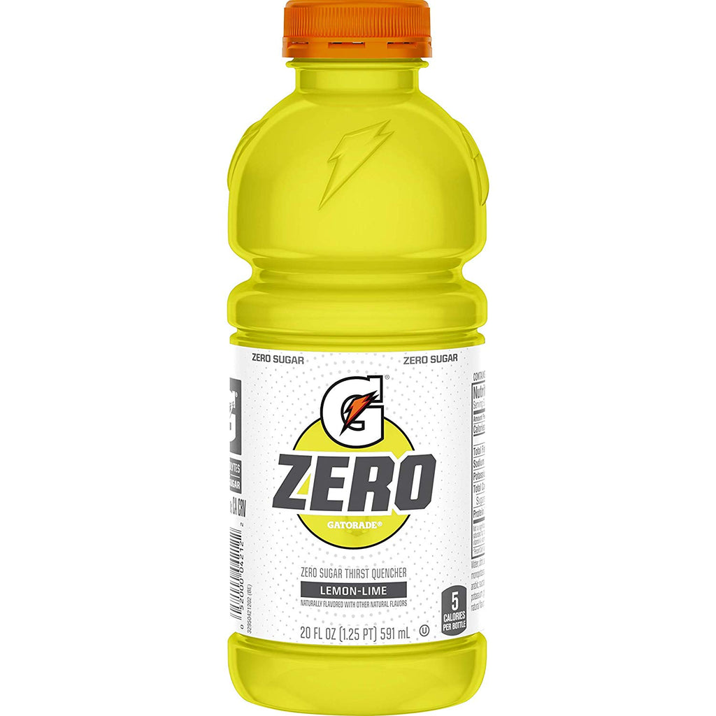 Gatorade Diet Lemon Lime ZERO 20oz (591ml) - A Taste of the States