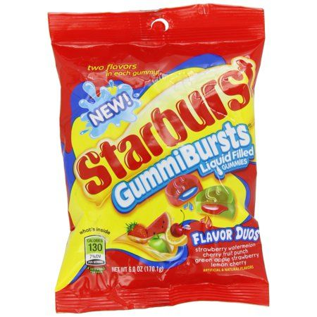 Starburst Gummi Bursts Flavour Duos (6oz Peg Bag) - A Taste of the States