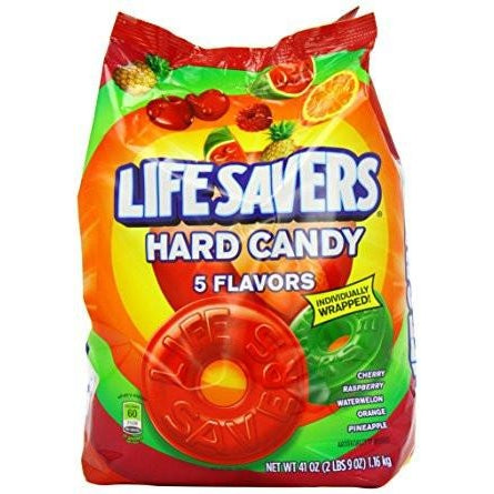 Lifesavers 5 Flavors Hard Candy XXL 41oz Bag (1.16kg) - A Taste of the States