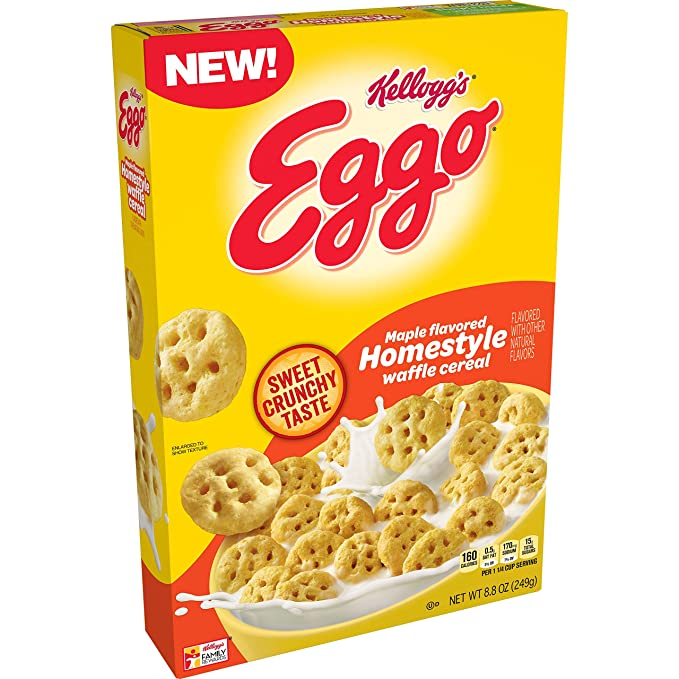 Kellogg's Eggo Maple Syrup Cereal (8.8oz) - A Taste of the States