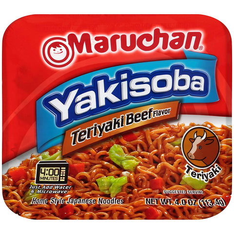 Maruchan Yakisoba Noodles | Teriyaki Beef (4oz) - A Taste of the States
