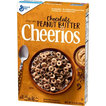 Cheerios Chocolate Peanut Butter Cereal (318g) - A Taste of the States