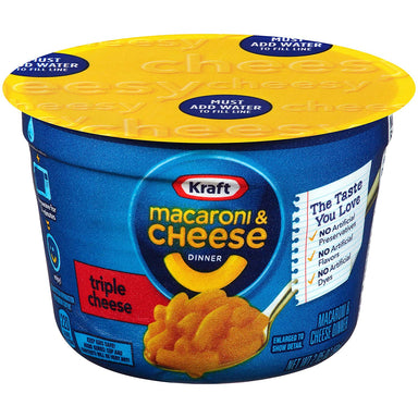 Kraft Macaroni Triple Cheese Cup (2.05oz) - A Taste of the States