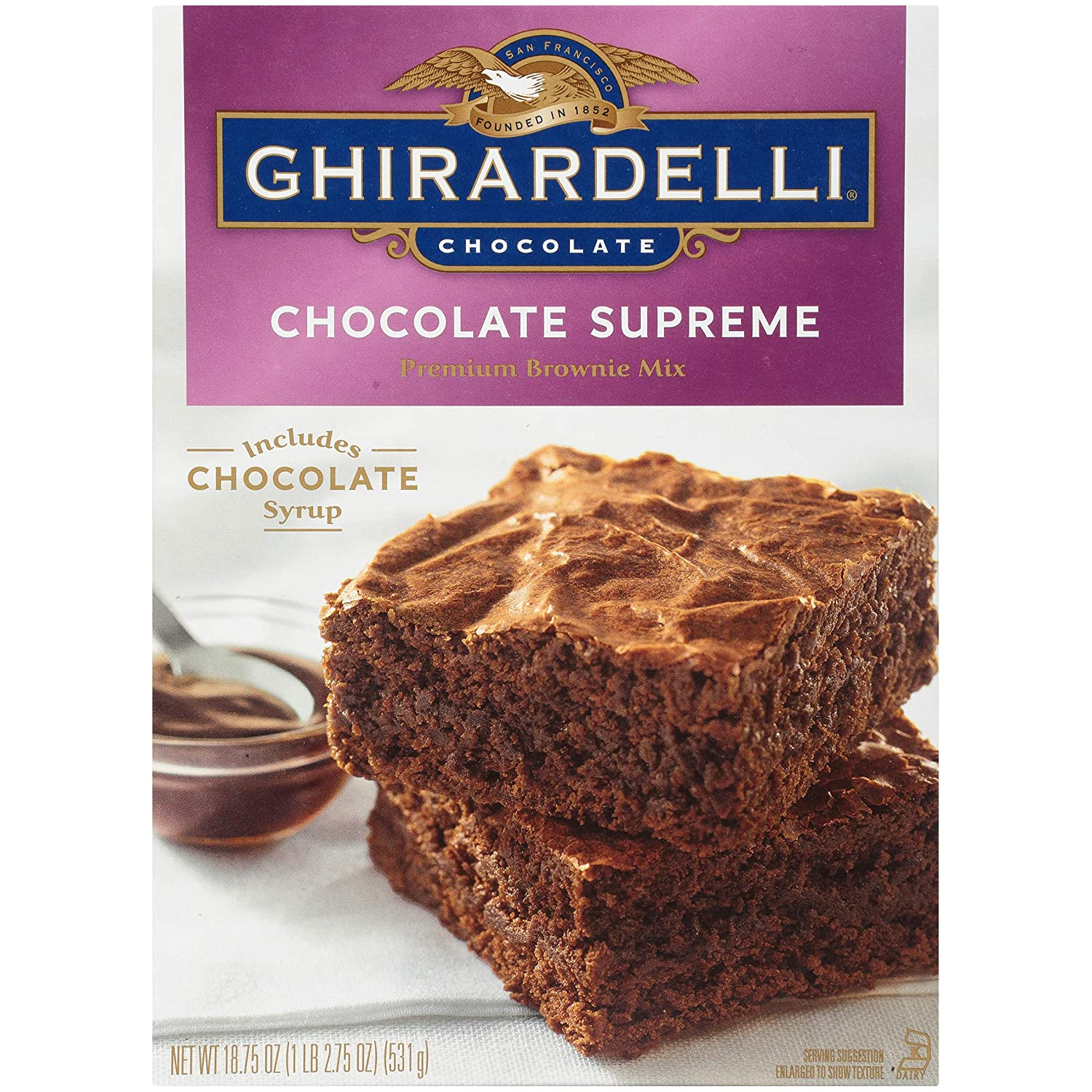 Ghirardelli Chocolate Supreme Premium Brownie Mix (531g)