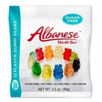 Albanese Sugar Free 12 Flavour Gummi Bears (3.5oz) - A Taste of the States