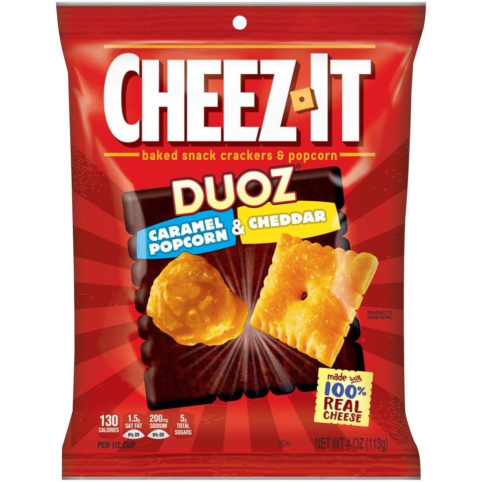 Cheez-It Crackers: Duoz Caramel Popcorn & Cheddar (4oz)