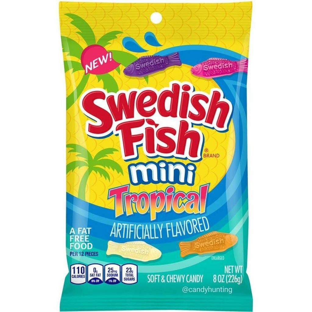 Swedish Fish Tropical (8oz) - A Taste of the States