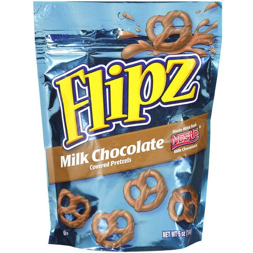 Flipz (Milk Chocolate Covered Pretzels) 5oz - A Taste of the States