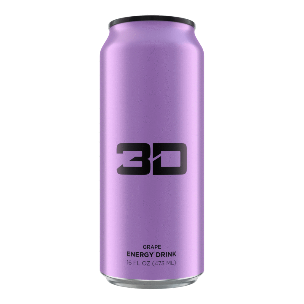 3D Energy Drink: Purple Grape (16oz)