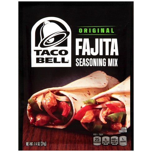Taco Bell Original Fajita Seasoning Mix (1.4oz) - A Taste of the States