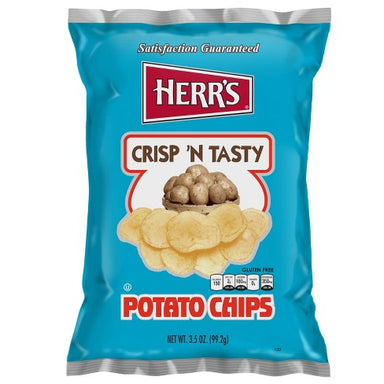 Herr's Crisp 'n Tasty Potato Chips (1oz) - A Taste of the States
