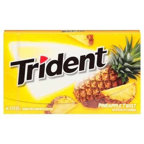 Trident Pineapple Twist Gum (14pc) - A Taste of the States