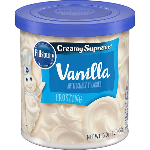 Pillsbury Creamy Supreme® Vanilla Frosting (453g) - A Taste of the States