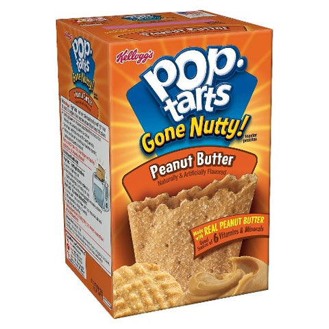 Kellogg's Pop Tarts 'Gone Nutty!' Peanut Butter (6 pack) - A Taste of the States