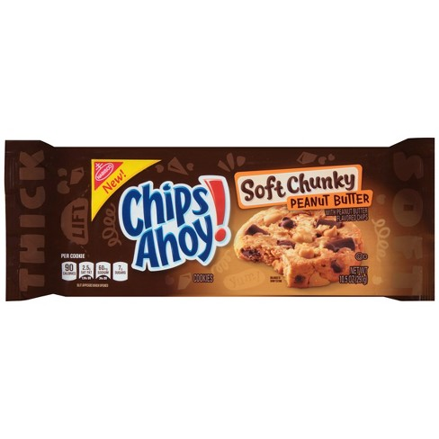 Chips Ahoy! Soft Chunky Peanut Butter Cookies (10.5oz) - A Taste of the States