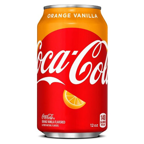 Coca-Cola Orange Vanilla (12fl.oz) - A Taste of the States