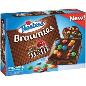 Hostess Brownies with M&M's Candy (Box of 6) (258g) - A Taste of the States