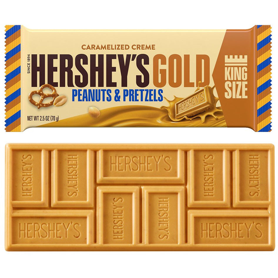Hershey's King-Size Gold Peanuts & Pretzels Bar (2.5oz) - A Taste of the States