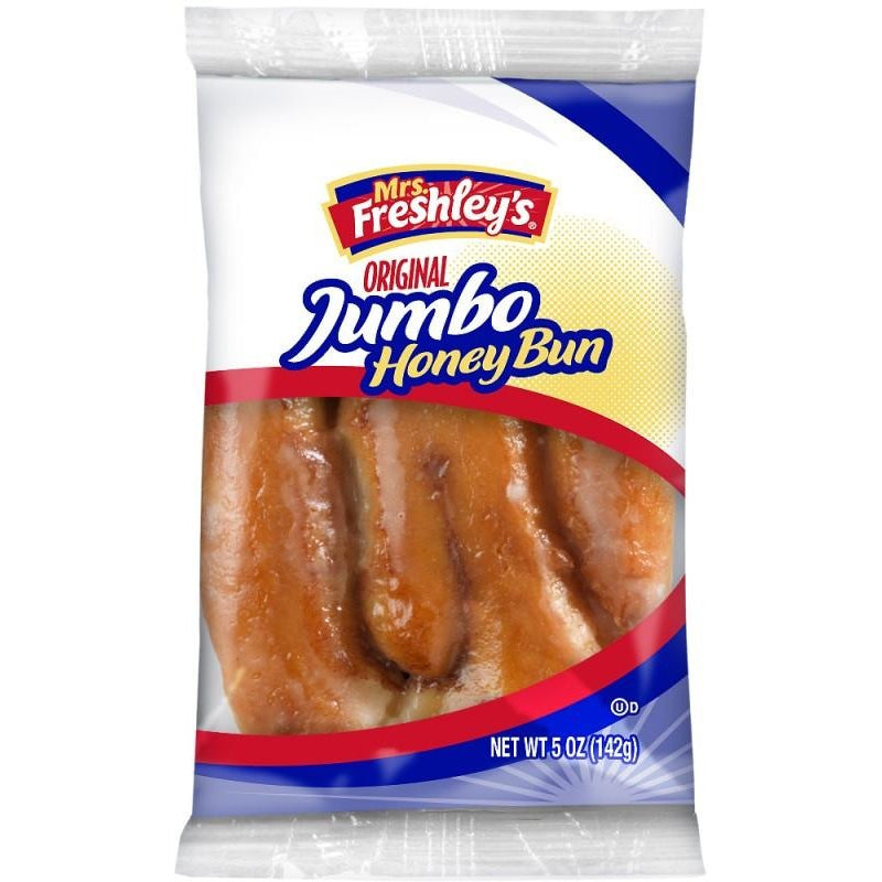 Mrs. Freshley's Jumbo Honey Bun (5oz) 142g - A Taste of the States